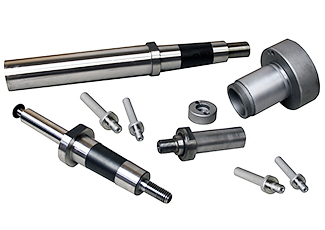 spindle quills and wheel adapter assemblies